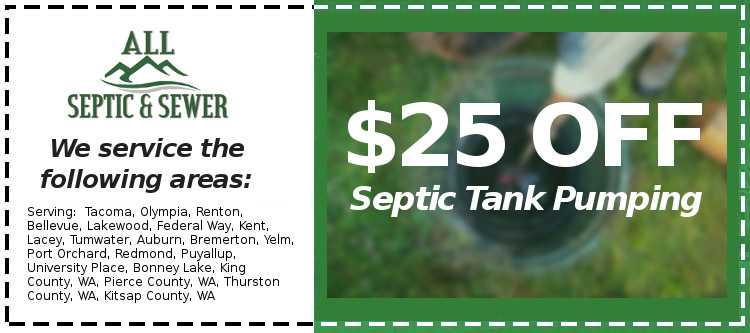 Coupon All Septic Pumping $25 Off