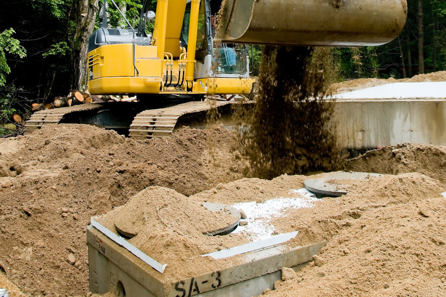 sewer system install